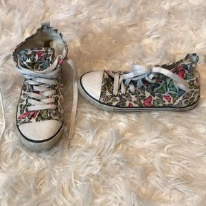 Other - Butterfly Design Hightop Sneakers